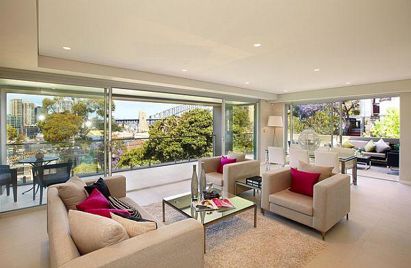 Sydney Penthouse Luxurious Living Room Design Decoist