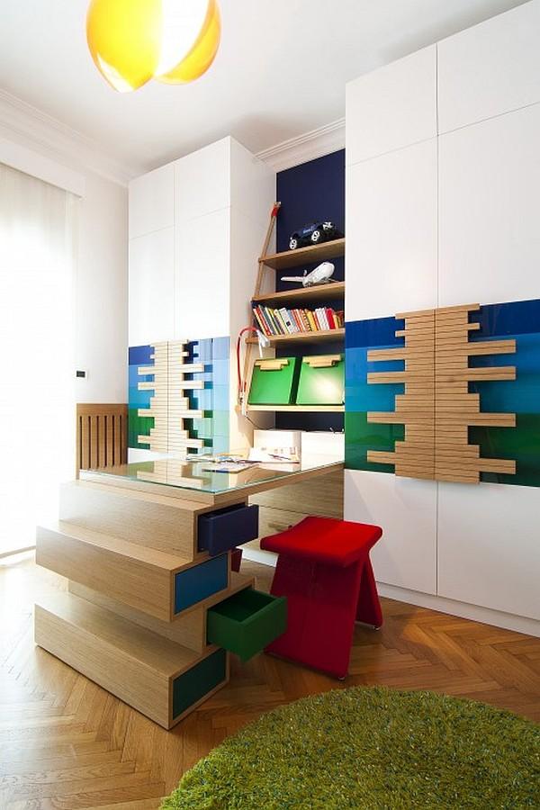 highly functional modern kids study room - Decoist