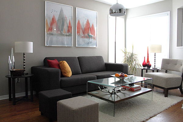 12 Living Room Ideas For A Grey Sectional Hgtv S Decorating Part 38