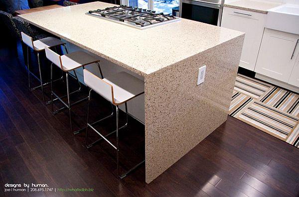 Finished Bamboo Tile Flooring Carpet Kitchen