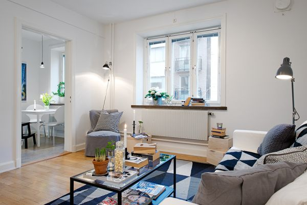 Tiny Swedish Apartment Showcases How To Decorate Small