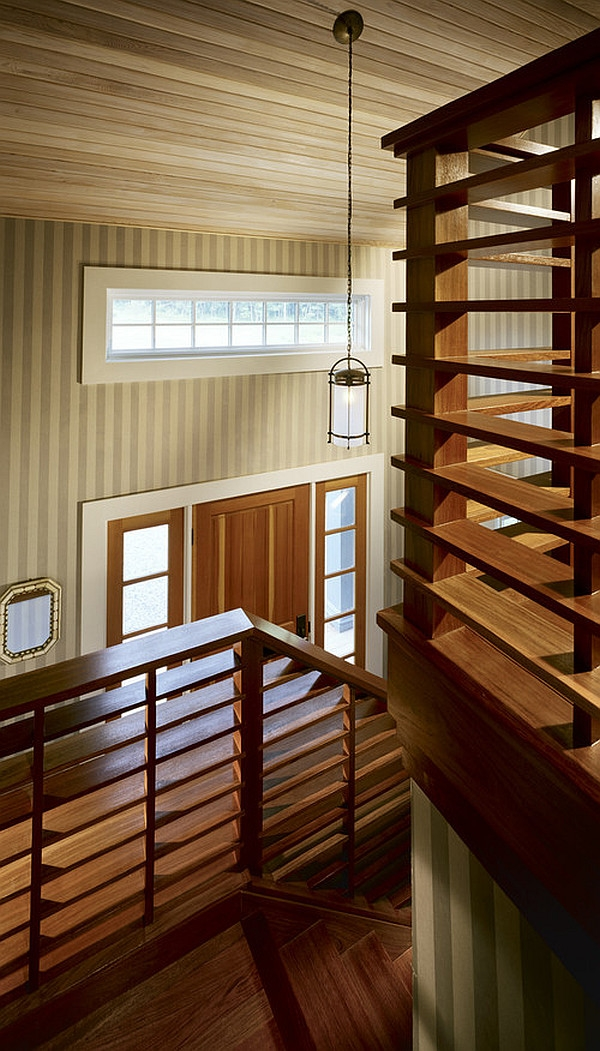 Choosing The Perfect Stair Railing Design Style   Wooden Railing Designs For Stairs   Handrail   Different Kind Wood   Combination Wood   Interior   Indoor