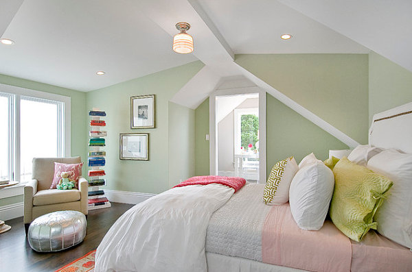 View In Gallery Bright Accents A Pastel Bedroom