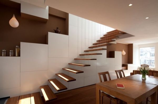 Fabulous floating stairs suspended with style Suspended Style: 32 Floating Staircase Ideas For The Contemporary Home