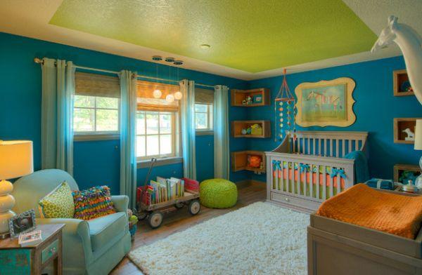 Kids' nursery sporting daft little corner shelves!
