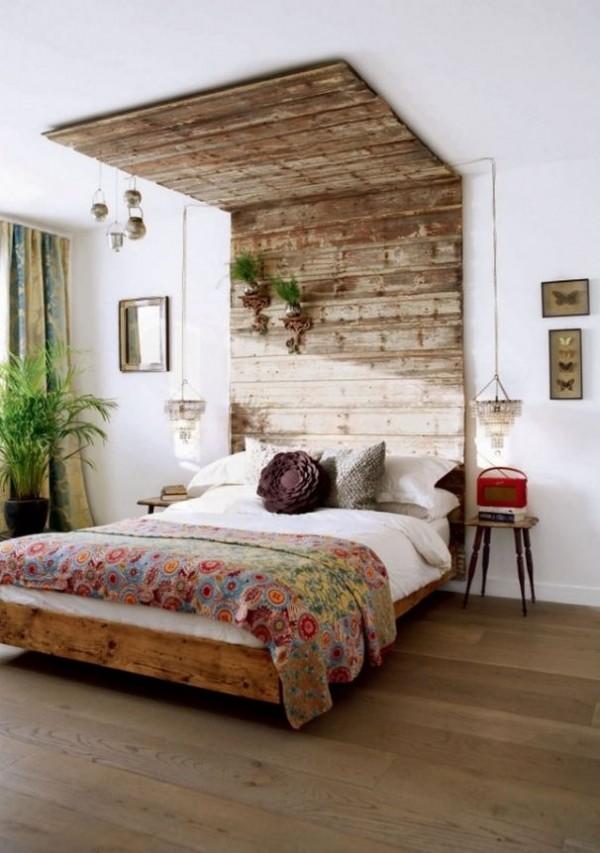 wood bed headboard plans