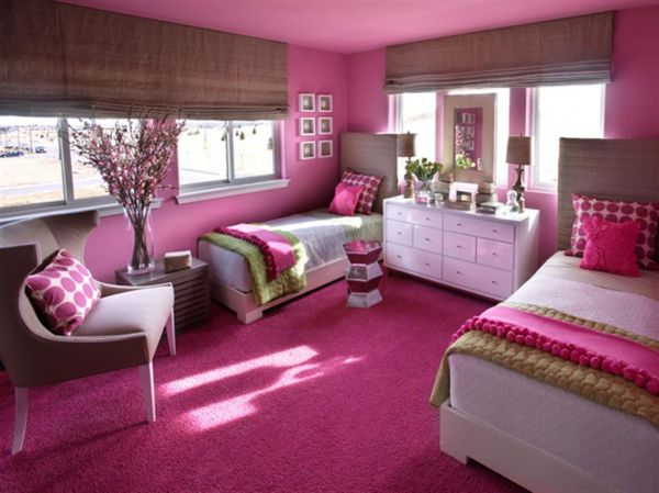 Hip Pink And Yellow S Bedroom