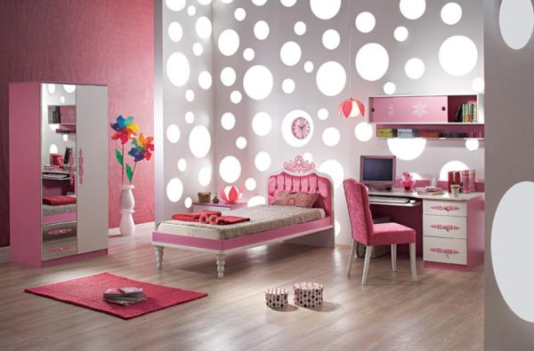 View In Gallery Stylish S Bedroom Pink And Silver Pretty 35
