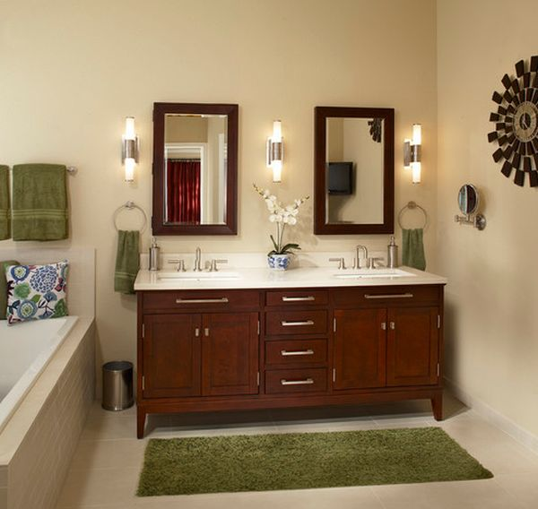 lime green and grey bathroom decor. robins egg blue with yellow,