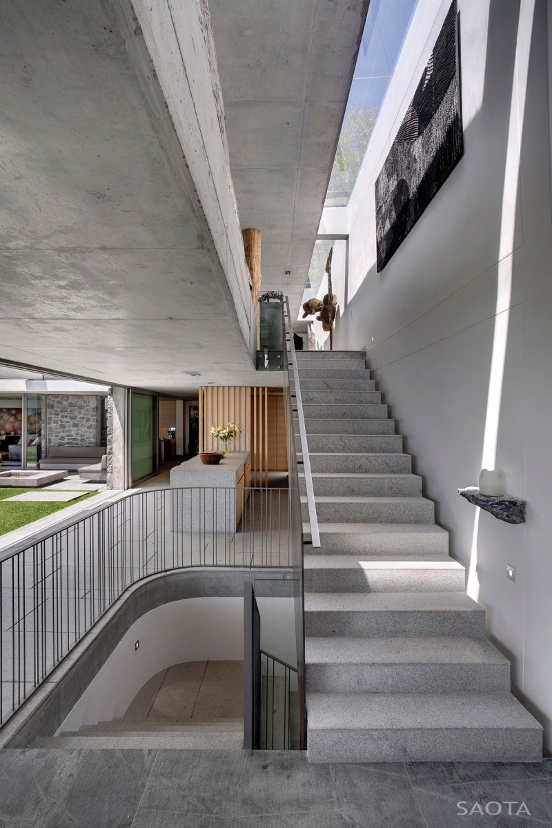 Opulent Bantry Bay Residence In Cape Town Offers   Concrete Stair Design For Small House