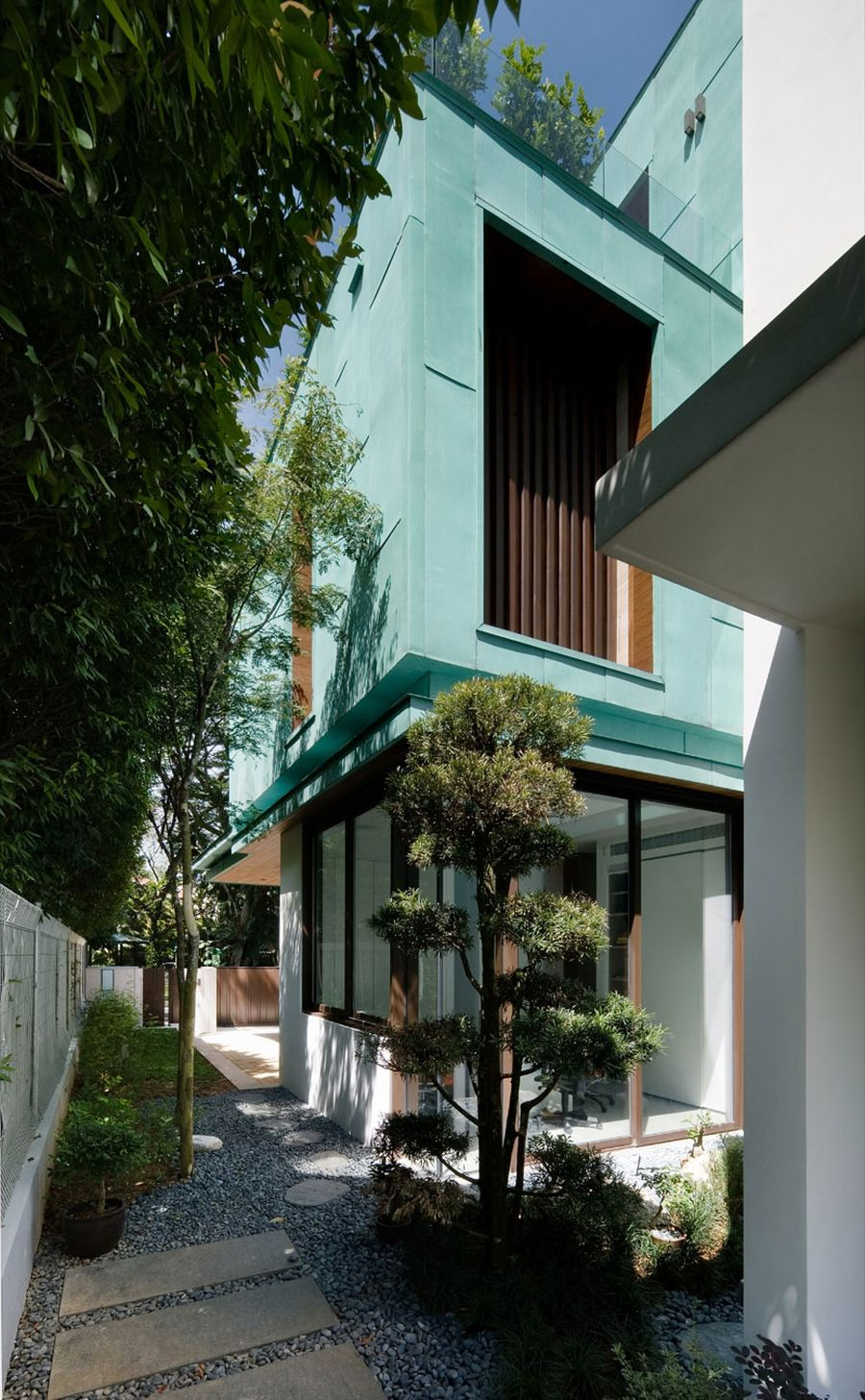 Metallic Exterior Meets Modern Interiors At Singapores