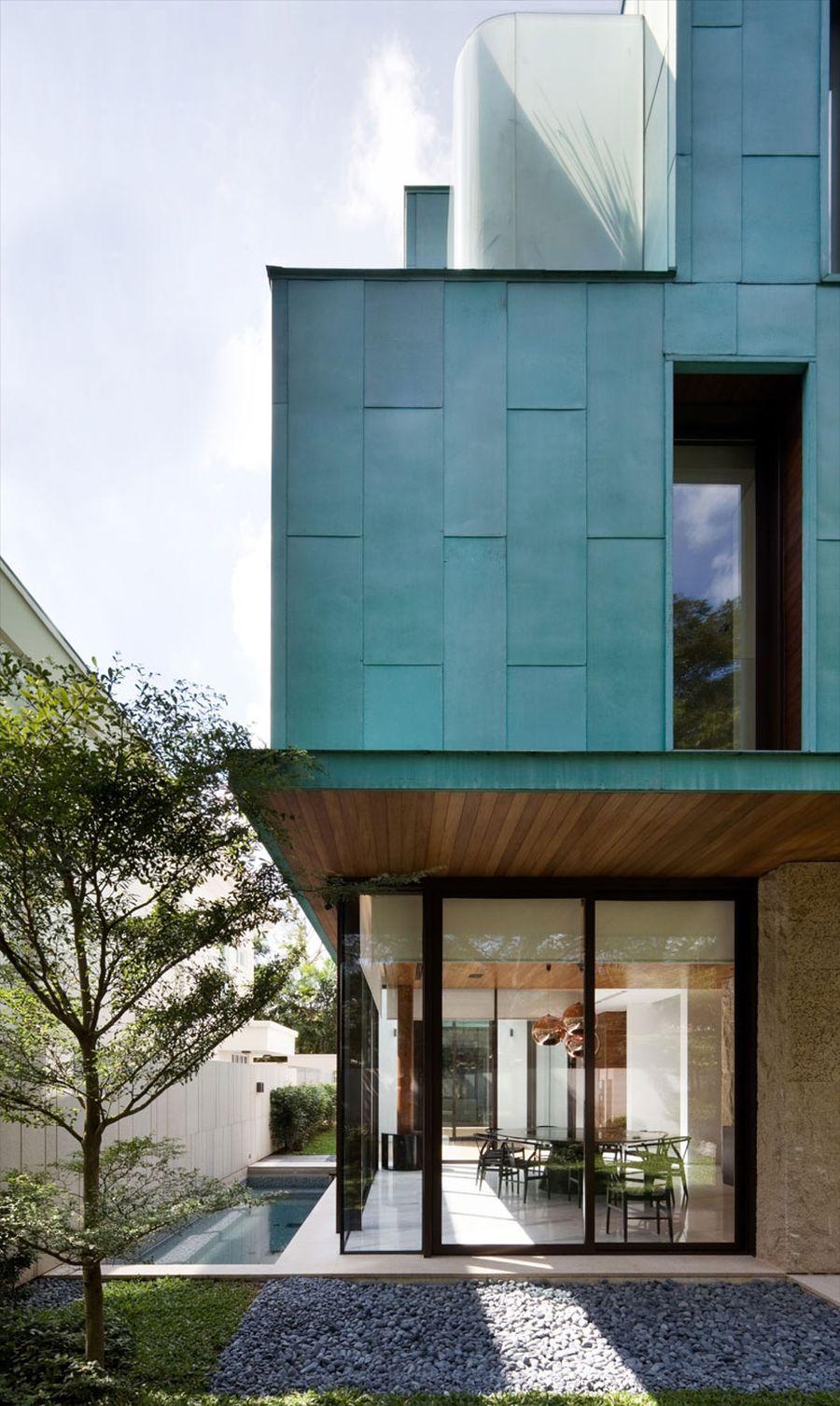 Metallic Exterior Meets Modern Interiors At Singapores