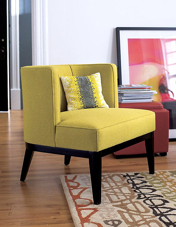 Yellow Chair Accent Patterned