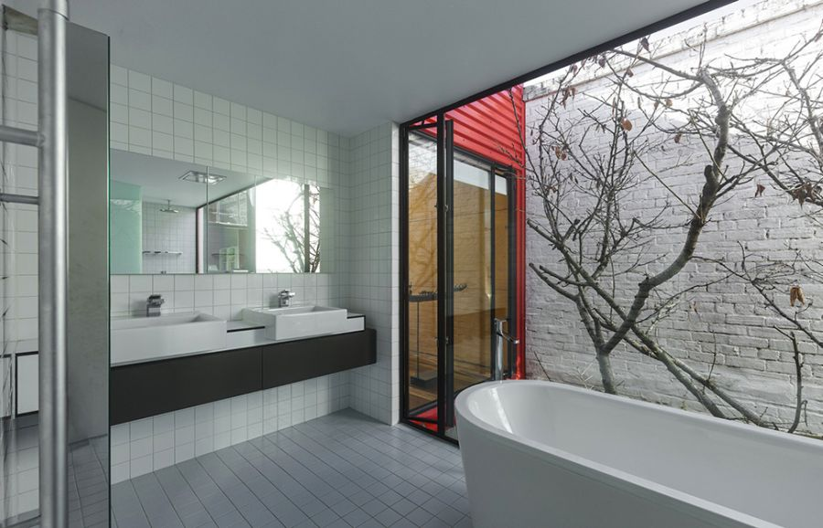 Modern Melbourne House With A Japanese Maple At Its Heart