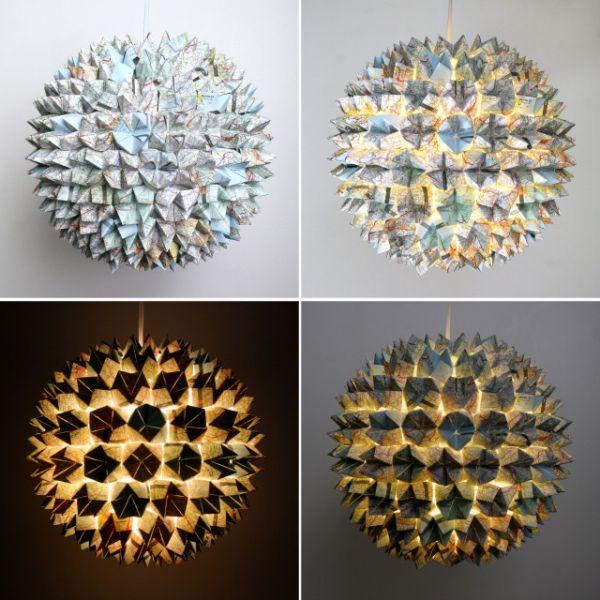 Recycled Cardboard Pendant Lights