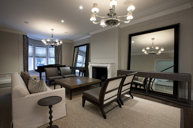 View In Gallery Huge Mirrors The Living Room. How To Use Mirrors  Effectively Open Up Your E Part 64