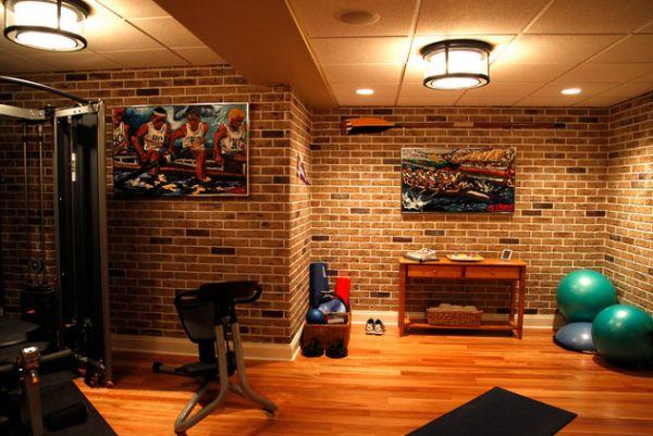 Wall colors for home gym. basement design decor photos pictures