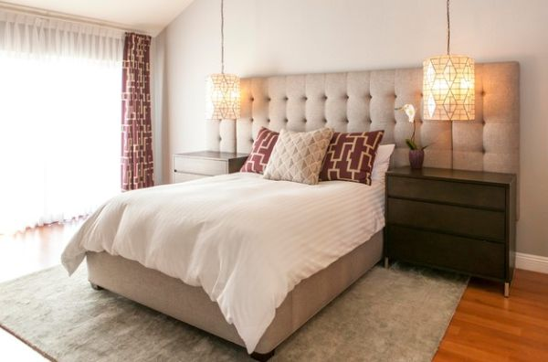 High End Hotel Styled Bedroom With An Oversized Tufted