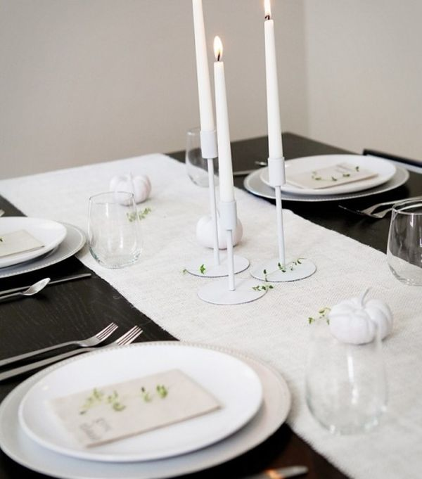 black and white thanksgiving decor ideas