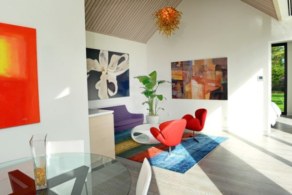 Wall Art Complements The Mid Century Modern Decor In The Room Decoist