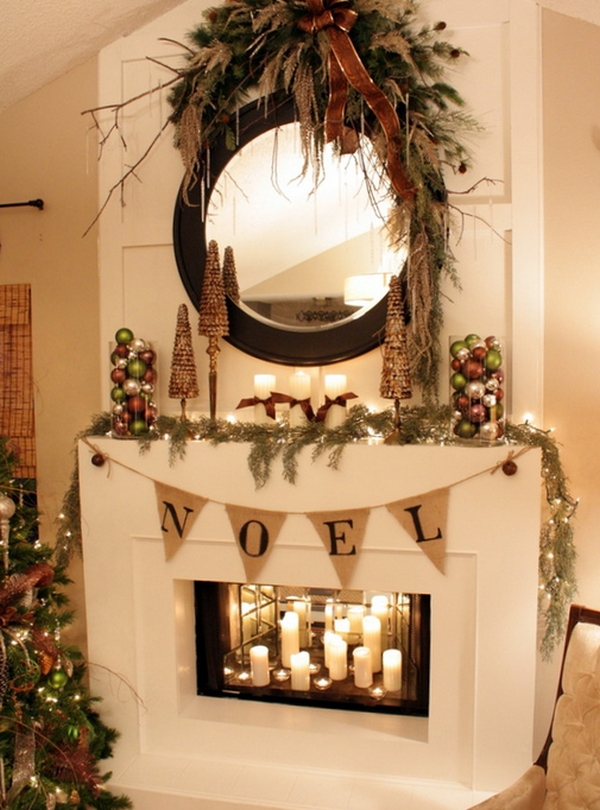 Candles Inside The Fireplace Make For A Gorgeous Visual