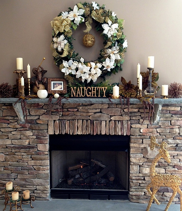 50 Christmas Mantle Decoration Ideas View in gallery Leave a little note for Santa on the mantel