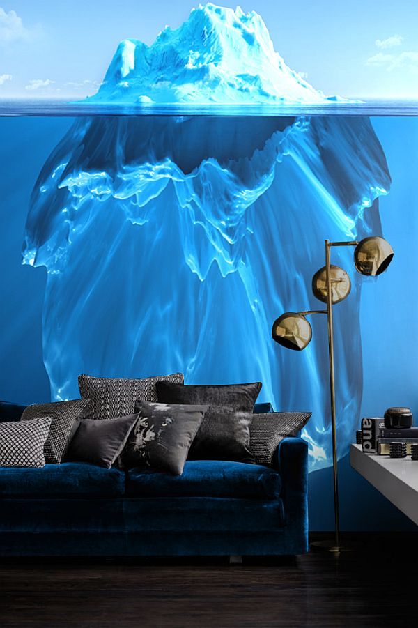 iceberg glacial wall mural