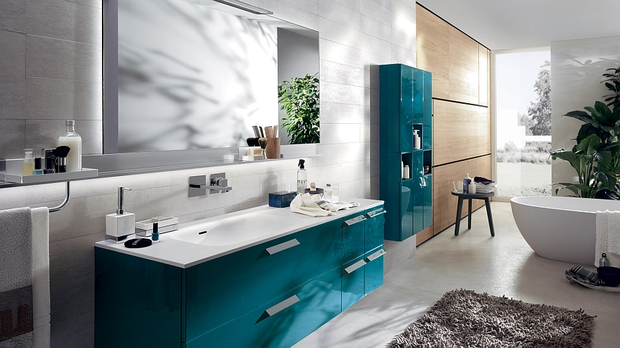 Baltic Blue Cabinets For The Modern Bathroom Decoist