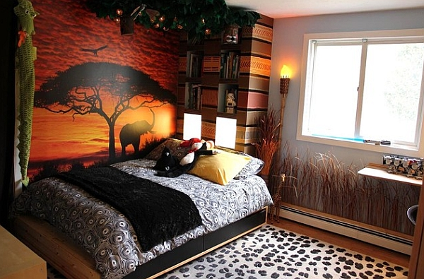 African Design Style View In Gallery Kids Bedroom With Colorful Safari Theme
