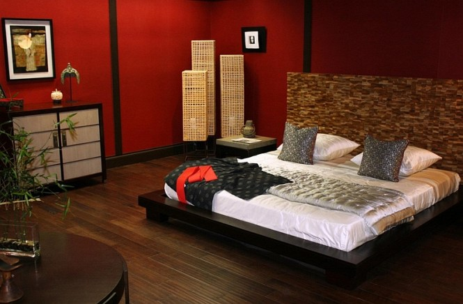 View In Gallery Asian Style Master Bedroom Red