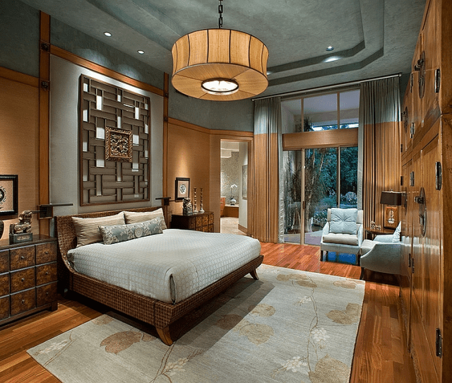 View In Gallery Exquisite Master Bedroom With An Asian Theme