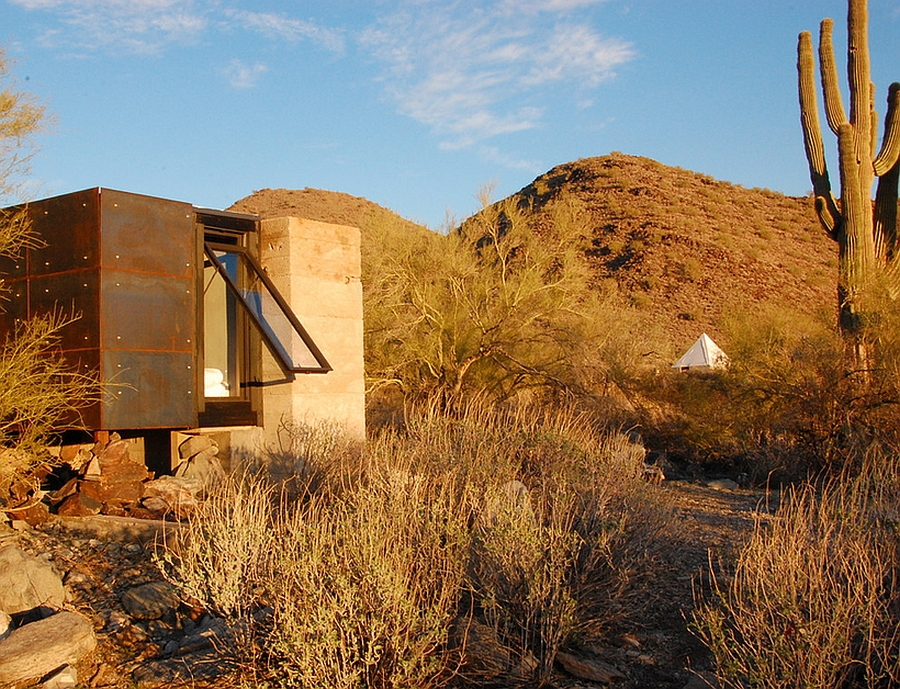 Miners Shelter Tiny Desert Dwelling Clad In Glass And Steel