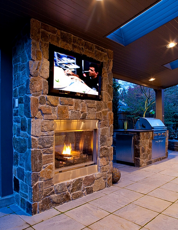 contemporary modern fireplace designs