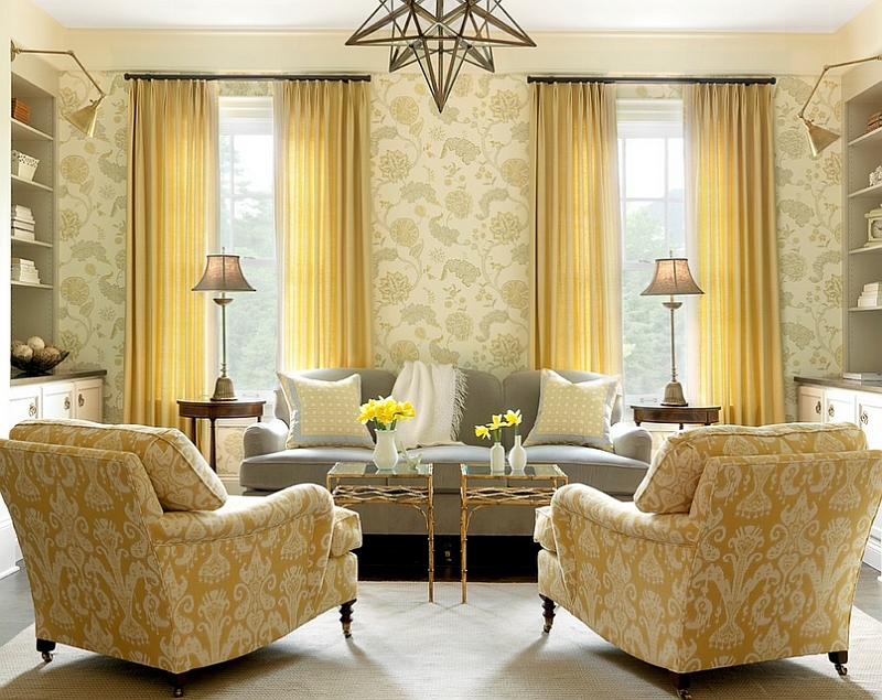 Gray And Yellow Living Rooms Photos Ideas Inspirations Part 42