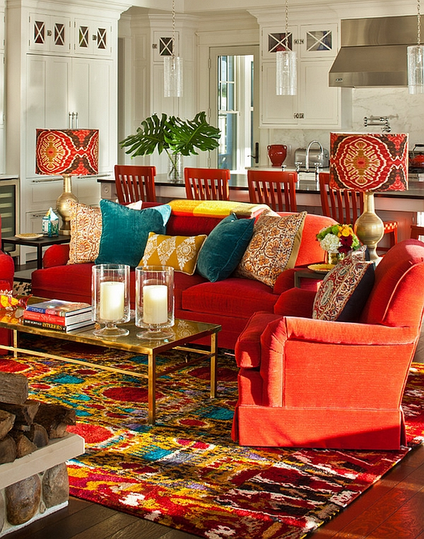 Bohemian Style Interiors  Living Rooms and Bedrooms View in gallery Bold lampshades and candles really drive home the Bohemian  look of the lounge