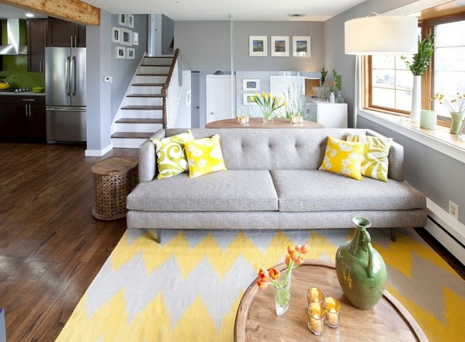 Image Of Gray And Yellow Living Room Ideas