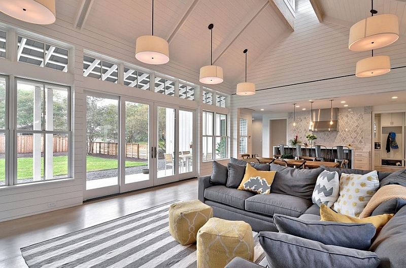 Gray And Yellow Living Rooms Photos Ideas Inspirations Part 36
