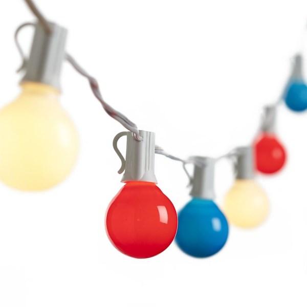 Red White Blue String Lights