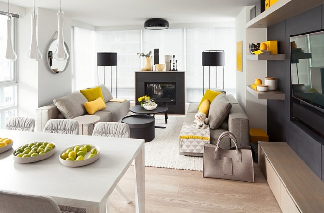 Orange And Yellow Spring Decorating Ideas For Living Rooms