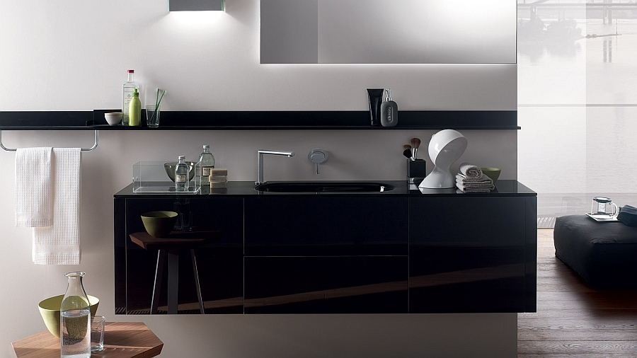 Refreshing And Posh Contemporary Bathroom Dazzles With