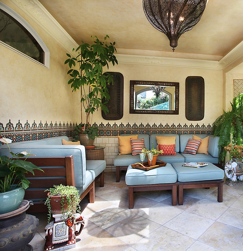 Beautiful Moroccan Patterns And Tile Enliven The Cool Patio Decoist