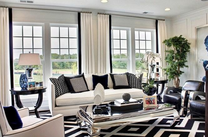Black And White Living Room Elegance