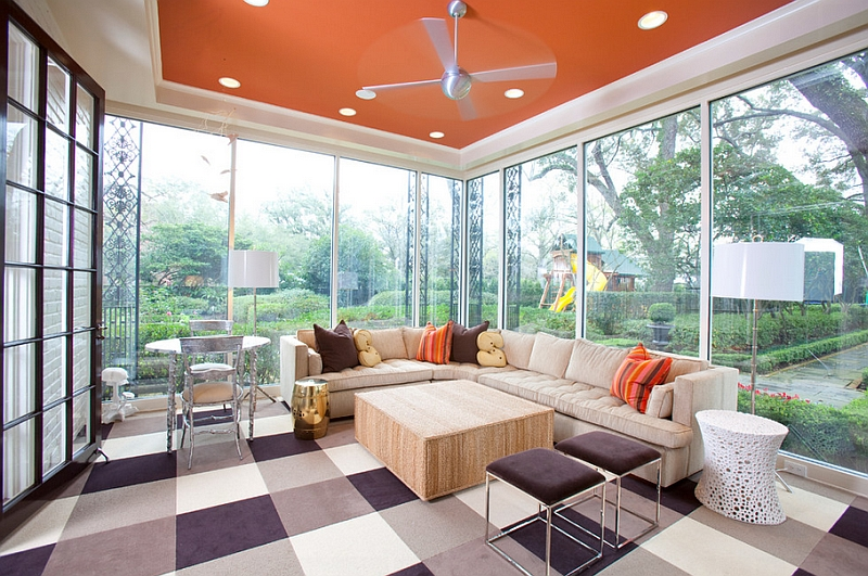 Carpet tiles for the porch in white grey and eggplant Hot Color Trends: Three Fashionable Hues That Serve You All Year Long Year Trends Three Serve Long Hues Fashionable Color