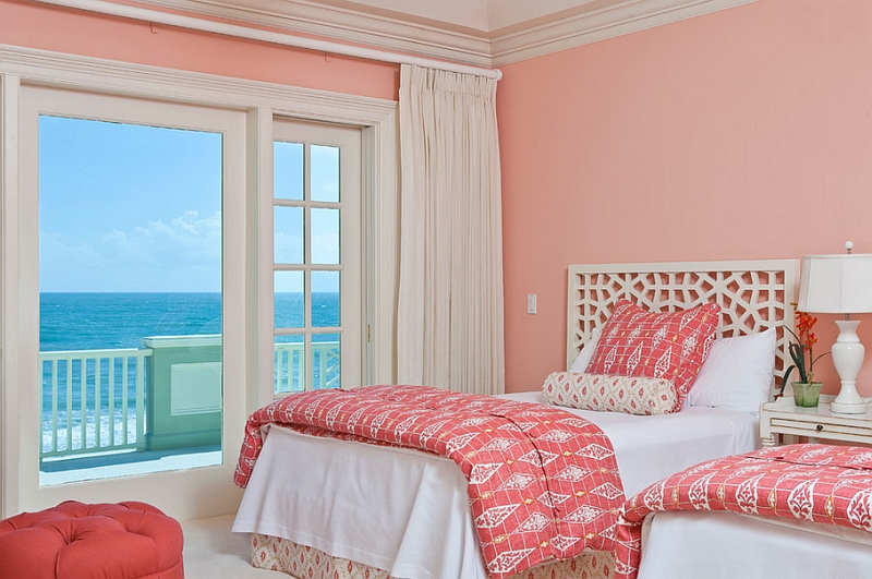Move away from bright pinks and give coral walls a shot this summer Hot Color Trends: Three Fashionable Hues That Serve You All Year Long Year Trends Three Serve Long Hues Fashionable Color
