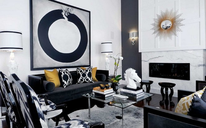 25 Black And White Glamour Decor Inspirations 5