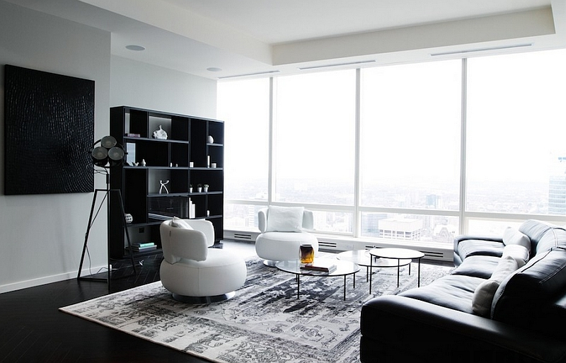 Black And White Living Rooms Design Ideas Part 38