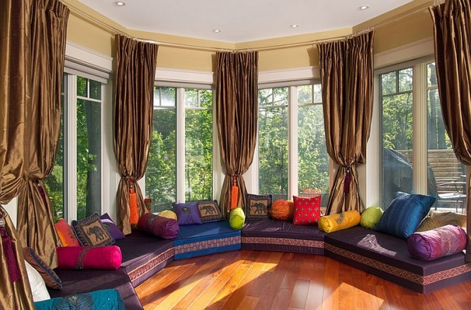 Vibrant Family Room Grace Home Design Eclectic Living