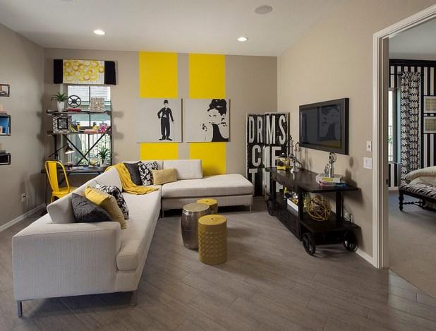 yellow living rooms | Iammyownwife.com