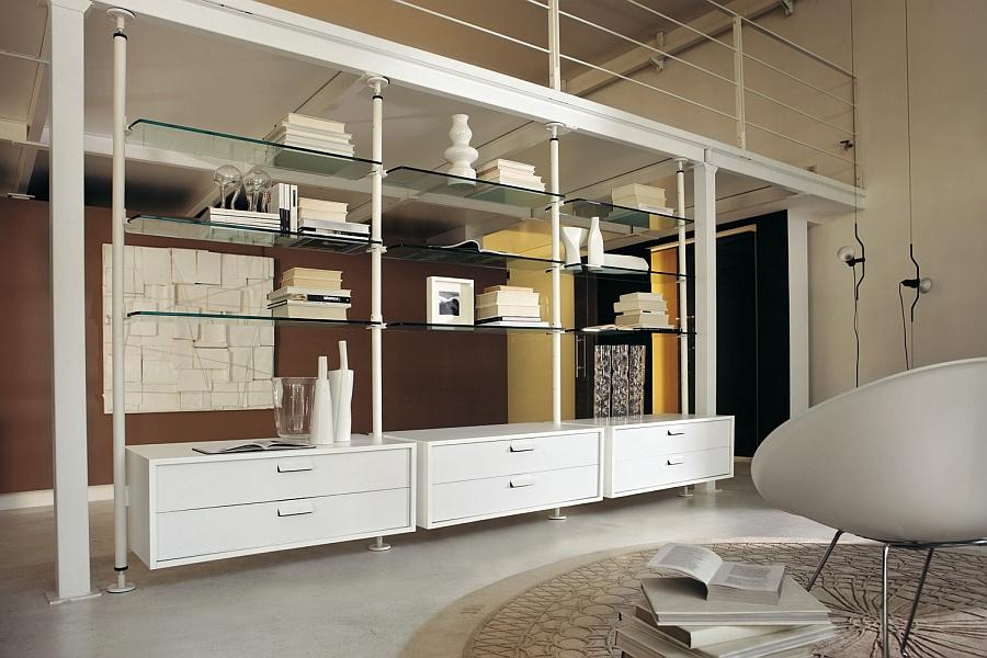 Stunning Minimalist Living Room Wall Unit Systems Italian