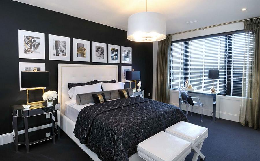 Black Colors Small Bedroom
